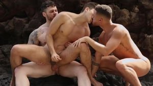 DrillMyHole.com - Doggy sex with Angel Rivera & Matthew Camp