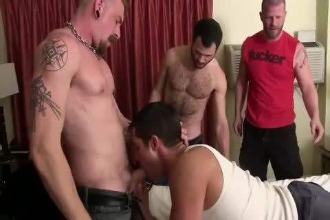 Three sleazy homosexual men With large ramrods Use sleazy homosexual in nature's garb butthole - GayTV