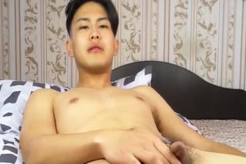juicy Korean boy Tugging small rod And Shotting Loads Of love juice