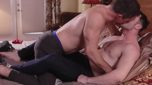 IconMale.com - Couple Jesse Zeppelin doggy style in the bed