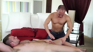 IconMale: Jock Brian Bonds touches huge penis