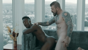 Noir Male - Rocco Steele together with Liam Cyber blowjob cum