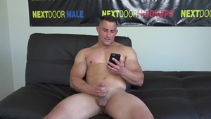 NextDoorCasting: European Luke Miles masturbating at castings