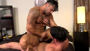 MenOver30: Gay Bruno Bernal jerking Rego Bello huge penis