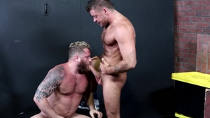 MenOver30 - Hairy Riley Mitchel rough kissing each other