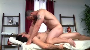 Pride Studios: Bear Ethan Slade condom throat fucking